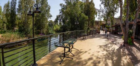 Beautiful view of Jordan River where Jesus of Nazareth was Baptised.