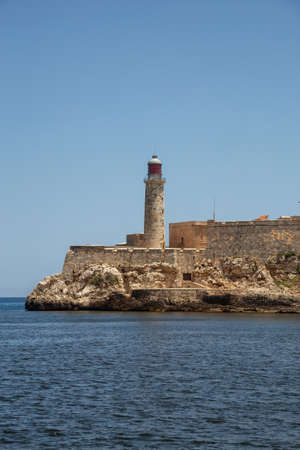 Beautiful view of the Lighthouse in the Old Havana City, Capital of Cuba, during a vibrant sunny day. Zdjęcie Seryjne
