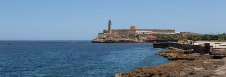 Beautiful Panoramic view of the Lighthouse in the Old Havana City, Capital of Cuba, during a vibrant sunny day.