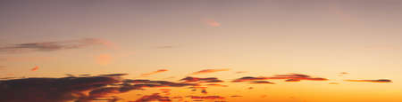 Beautiful Panoramic View of colorful cloudscape during a sunny morning sunrise. Taken in Vancouver, British Columbia, Canada. 版權商用圖片