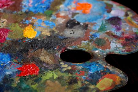 schilderspallet Stockfoto