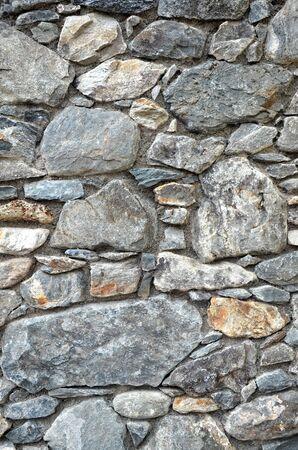 saalfelden: stonewall in saalfelden salzburg austria close up