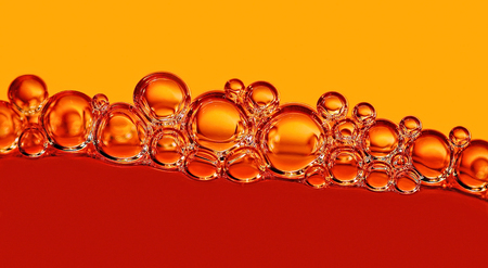 updated: bubbles in red und orange macro photo