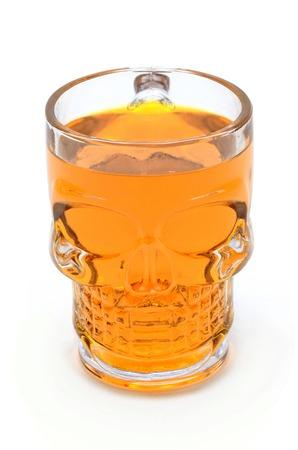 breackfast: skeleton glass colorful on a white background Stock Photo