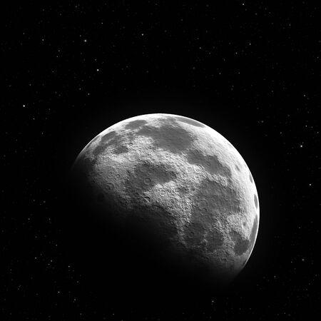 halb moon by night Banco de Imagens