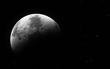 halb moon by night Stockfoto