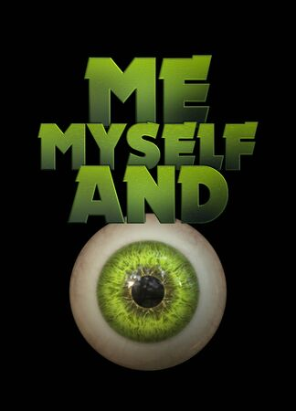 Me myself and eye 3d graphic design Reklamní fotografie