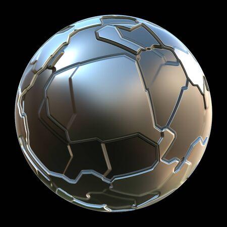 Futuristic 3d globe sphere
