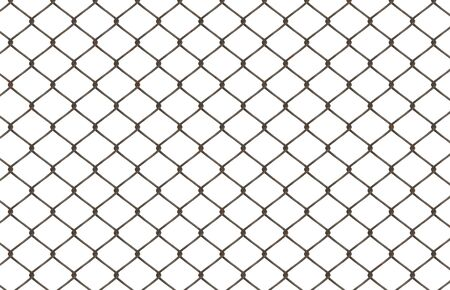 Chainlink fence on white