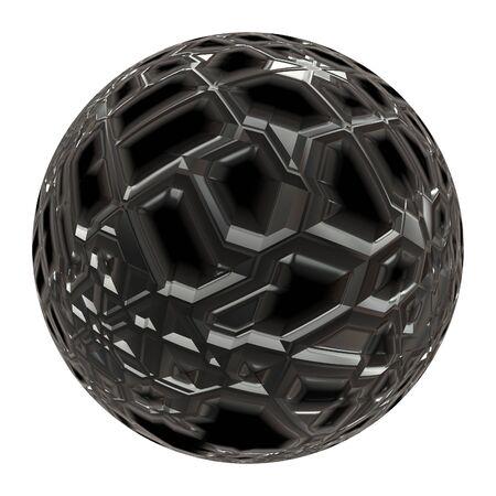 Futuristic 3d sphere isolated
