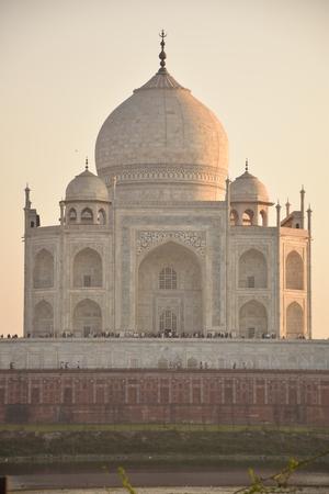 uttar pradesh: Back view of the Taj Mahal at sunset, Agra, Uttar Pradesh, India