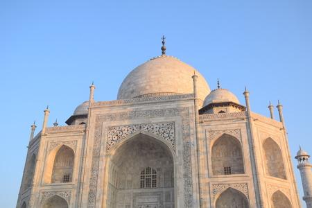 uttar pradesh: View of the Taj Mahal, Agra, Uttar Pradesh, India Stock Photo