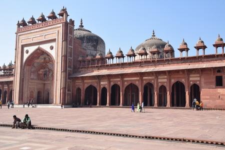 fatehpur: The entrance of Fatehpur Sikri old mosque, Uttar Pradesh, India