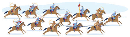 Medieval Asian Mongol or Turkic warrior