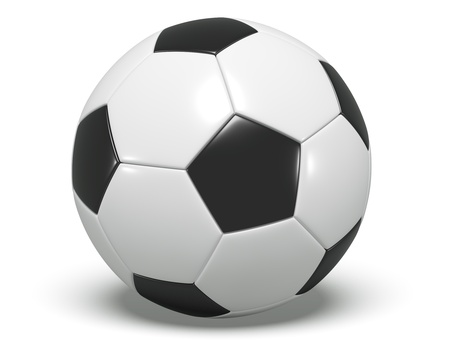 Soccer Ball - Black and white Stock Photo