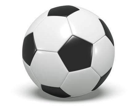Soccer Ball - Black and white Stock Photo