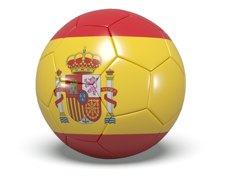 Soccer Ball - Spain Stock Photo