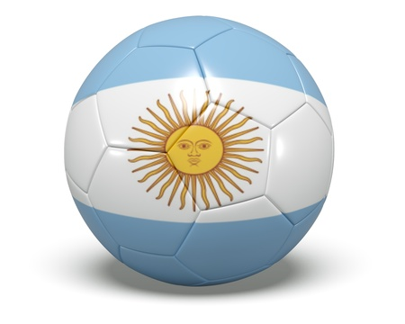 Soccer Ball - Argentina Stock Photo
