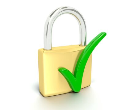 Check Mark - Secure Stock Photo