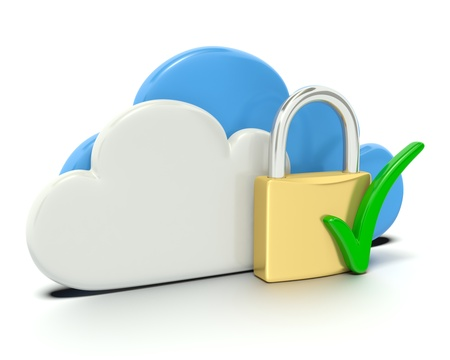 Check Mark - Secure Cloud Computing Stock Photo - 14180570