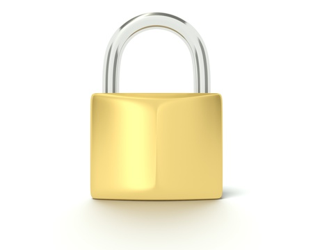 A 3D concept graphic depicting a security concept Stock Photo