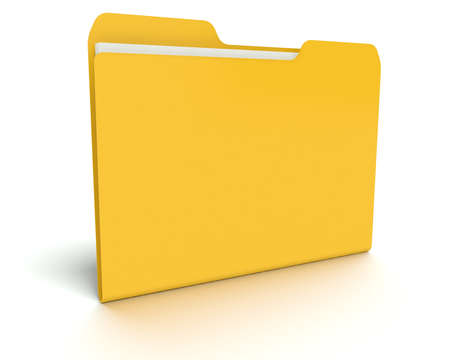 A 3D concept graphic depicting a folder o file concept. Rendered against a white background with a  soft shadow and reflection to enhance the 3D. Stock Photo - 14324273
