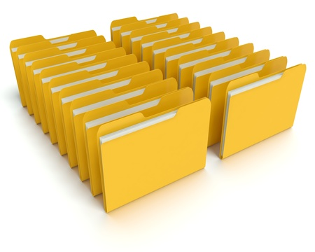 A 3D concept graphic depicting a folder o file concept. Rendered against a white background with a  soft shadow and reflection to enhance the 3D. Stock Photo - 14324278