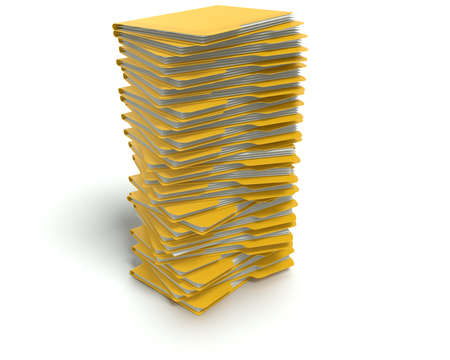 A 3D concept graphic depicting a folder o file concept. Rendered against a white background with a  soft shadow and reflection to enhance the 3D. Stock Photo - 14324281