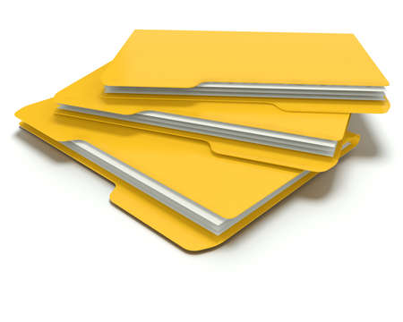 A 3D concept graphic depicting a folder o file concept. Rendered against a white background with a  soft shadow and reflection to enhance the 3D. Stock Photo - 14324275