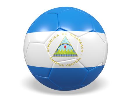 Footballsoccer ball with a flag for Nicaragua
