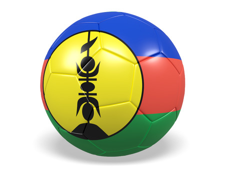 Footballsoccer ball with a flag for Caledonia