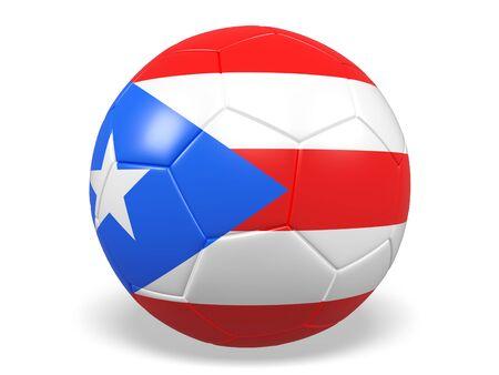 bandera de puerto rico: balón de fútbol  fútbol con una bandera de Puerto Rico