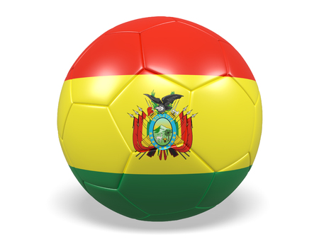 Footballsoccer ball with a flag for Bolivia Stock Photo