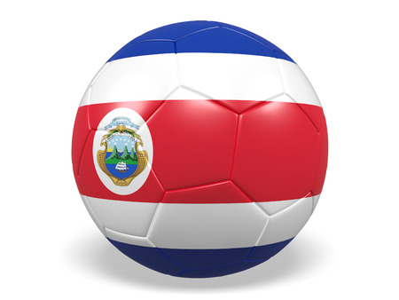 Footballsoccer ball with a flag for Costa Rica