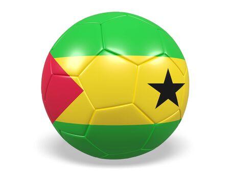 principe: balón de fútbol  fútbol con una bandera de Santo Tomé y Príncipe