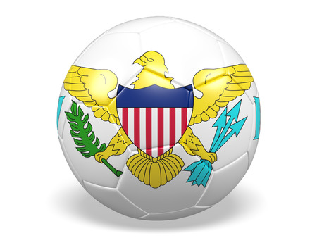 Footballsoccer ball with a flag for United States Virgin Islands Stock Photo
