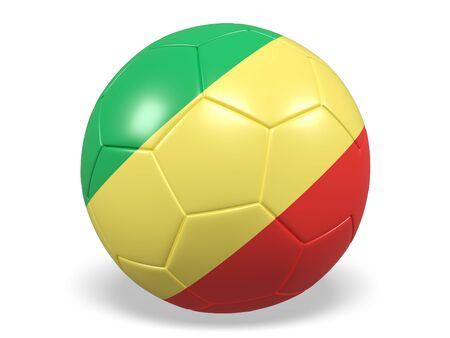 Congo: Footballsoccer ball with a flag for Republic of the Congo Stock Photo