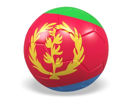 Footballsoccer ball with a flag for Eritrea
