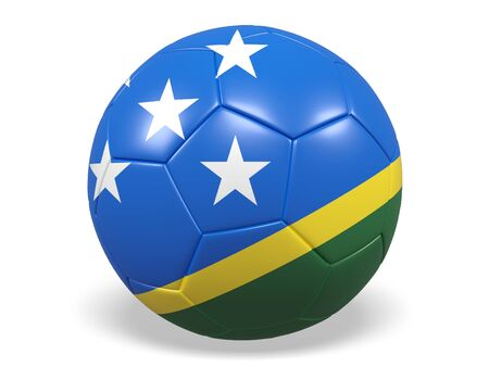 Footballsoccer ball with a flag for Solomon Islands
