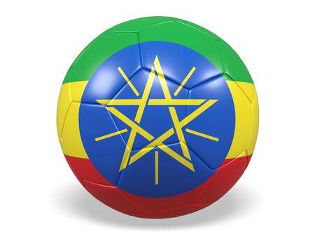 national flag ethiopia: Footballsoccer ball with a flag for Ethiopia