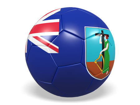 national geographic: Footballsoccer ball with a flag for Montserrat Stock Photo