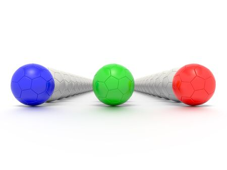 sporting equipment: A Concept Graphic featuring a stylized leadership or teamwork ideas, depicted through a soccer ball sphere theme.
