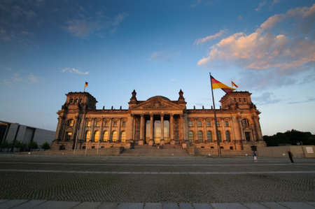 Beautiful view on Reichstag in Berlin Germany photo