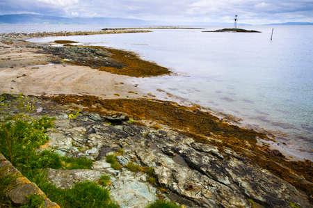 islet: Beautiful landscape of Munkholmen islet, Trondheim, Norway Stock Photo