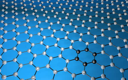 Carbon grid: graphene atomic structure for nanotechnology background