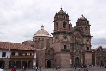 Facade of the Santo Domingo church in Cuzco Peru South America Editorial