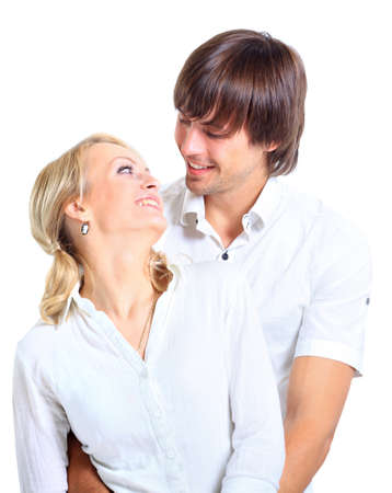Loving couple embracing  photo