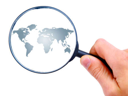 magnifying glass man: man