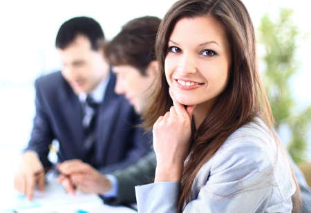 Portrait of a Happy business woman smiling at camera Stock Photo - 11146982