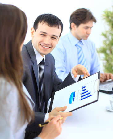 Group of business people in a meeting at office - Staff meeting  Stock Photo - 11146995